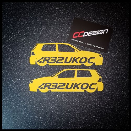 """OFFICIAL"" MK 4 R32UKOC STICKER"